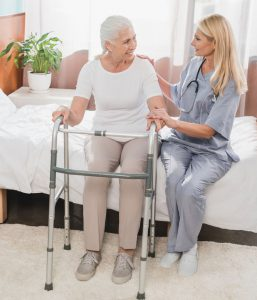 Older woman in a long term care facility, Does Medicare Cover Long Term Care. Long Term Assurance